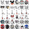 925 Sterling Micky Minnie Silver Charm Bead For European Argento Bracelet Bangle