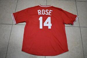 New! Pete Rose Cincinnati Reds Red Mesh Pull-Over Baseball Jersey Adult Men's XL