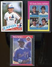 Gary Carter 1975 Topps Rookie Baseball Card + 1985 Topps and 1 other all VG-EX