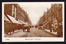 Powis Street Woolwich London SE18 Road View England Real Photo Postcard RPPC