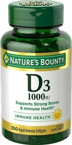 Vitamin D3 by Nature's Bounty for immune support. Vitamin D3 provides immune...