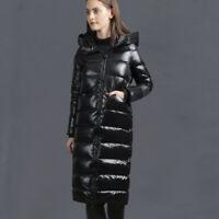 Winter Daunen Jacke langer Mantel Daunenjacke Daunenmantel Kapuze BC922 XXL