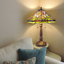 "Tiffany Style Calla Lily Table Lamp Handcrafted 18"" Shade"