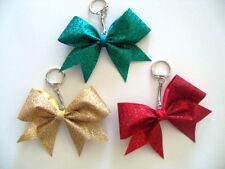 You Pick Colors Handmade Cheer Bow Glitter Key Chain Cheerleading