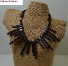 Collana etnico legno tribale,commercio equo-solidale,natale,regalo ,naturale