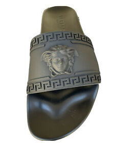 VERSACE RUBBER PALAZZO POOL SLIDES SIZE 10