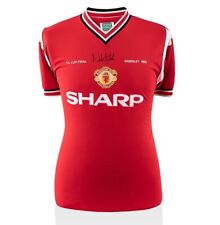 Norman Whiteside Signed Man United Shirt - FA Cup Final 1985 Autograph