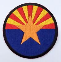 Arizona State Flag Embroidered Iron On Sew Patch Circle Round United States USA