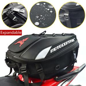 Motorcycle Rear Seat Tail Bag Motorbike Luggage Helmet Storage Backpack Large