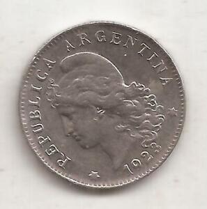 ARGENTINA 20 CENTAVOS AÑO 1923 NIQUEL UNC KM 36