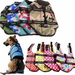 Pet Dog Swimming Safety Vest Life Jacket Puppy Reflective Stripe Preserve Vests