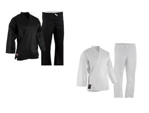 NEW Proforce Lightweight 6oz Karate Uniform Gi White or Black with White Belt