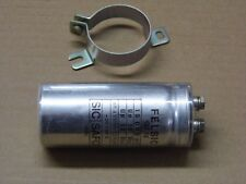 Lot x2 : condensateur 15000µF 15mF 10v Sic-Safco Felsic CO18 85°C + collier
