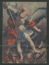 Lamina antigua de San Miguel Arcangel andachtsbild santino holy card