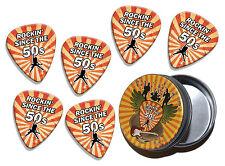 Rockin Since The 50s Birthday 6 X Logo Guitar Picks & Stash Tin (GD2)