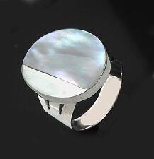 Perlmut Damenring Ring 925 Sterling Silber Größe 58 (18,4 mm)  sterling silver
