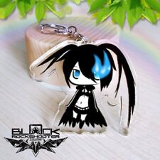 Anime Black Rock Shooter acrylic Keychain Key Ring Two faces Bag Ornament