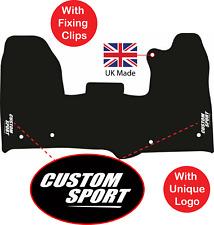 Tailored Car Carpet Van Mats Ford Transit Custom 2015 - 2019 Logos 4 Clips
