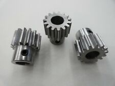 Lot of (3) Spur Gears 20 Pitch, 20.000 Deg Angle, Bore 3/8