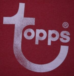 Mens Vintage EUC Red TOPPS Baseball Cards Graphic 50/50 T Shirt size L