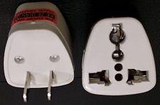 X2 Universal EU UK AU to US USA AC Travel Power Plug Adapter Converter WHOLESALE