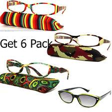 6 Pairs! Bulk Lots Wholesale Readers Reading Glasses Women Designer Fashion Lens