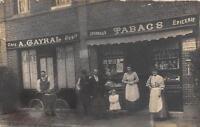CPA 76 CARTE PHOTO SOTTEVILLE LES ROUEN 69 RUE DE TRIANON CAFE TABACS A.GAYRAL (