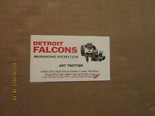 COHL Detroit Falcons Vintage Defunct Team Logo Hockey Business Card
