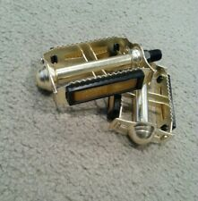 """NEW GOLD RAT TRAP BICYCLE PEDALS FASTBACK STINGRAY ROAD BIKE 1/2"""""""