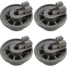 4 x Genuine Siemens & Bosch Dishwasher Lower Basket Rail Wheels - Grey 611475