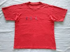 YSL Yves Saint Laurent Big Logo T Shirt Spell Out Embroidery Vintage