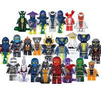 UK Stock Set of 24pcs Ninjago Mini figure for Lego Kai Jay Building Blocks Toys