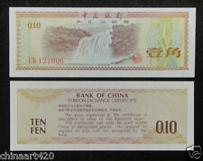 1979 bank of China foreign exchange certificate 1 jiao UNC