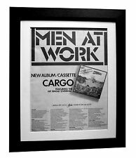 MEN AT WORK+Cargo+POSTER+AD+RARE ORIGINAL 1983+QUALITY FRAMED+FAST GLOBAL SHIP