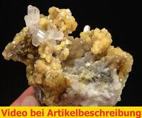 7138 Celestite Cölestin UV Calcite Sulfur 9*8*6 cm  1992 Machow Poland  MOVIE