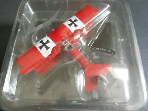 DelPrado Aircraft of the Aces FOKKER Dr.1 1:63 scale model #22 with info