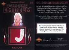 RIC FLAIR RING WORN TRUNKS PRESIDENT CHOICE TRADING CARD 1 OF 1 IN THE WORLD WOW
