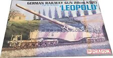 Dragon German Railway Gun 28cm K5E Leopold Model Kit Escala 1:35 Ref 6200, Nuevo