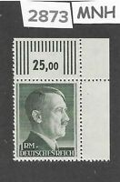 MNH Adolph Hitler Third Reich stamp / 1RM / 1942-1944 / WWII Germany / Sc524a