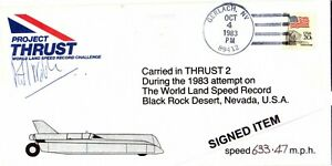 Land Speed Record: Signed Richard Noble, Thrust 2 Record Run Carried Envelope