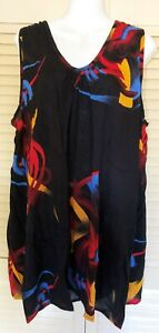 Plus size New in Singlet short dress or long top Crinkle Rayon stunning 18-26 L