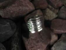 Spoon Ring Size 4.5 R353 Heart with Fleur de lis Antique