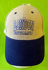 LONDON england UK baseball cap embroidered patch beige brown khaki NEW crest of