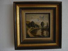 Versteigere Ölgemälde, Landschaft, aufwändig gerahmt, ca. 27x27 cm, top erhalten