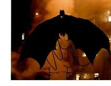 THE DARK KNIGHT CHRISTIAN BALE SIGNED BATMAN FLYING 8X10