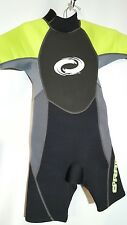 O'rageous Childs 6-8 Shorty Wet Suit Gray/Black/Green
