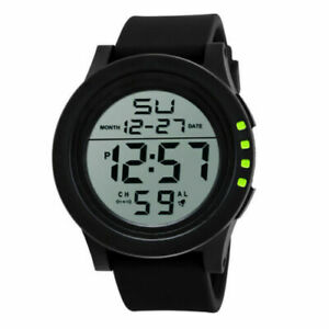 LED Screen Digital Sports Watch Men's Watches Stopwatch Date Military Watches UK