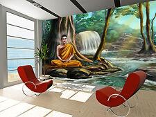 Buddha Meditating Wall Mural Photo Wallpaper GIANT WALL DECOR PAPER POSTER