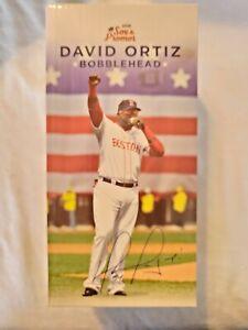 DAVID ORTIZ BOBBLEHEAD Boston Red Sox Big Papi NIB Final Season SGA