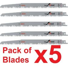 """Bosch S1531L HCS 240 x 19 x 1.5mm /10"""" X5 Reciprocating Blades Fast Cut Wood"""